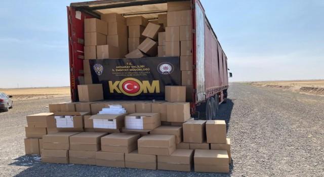 13 Milyon Kaçak Makaron Ele Geçirildi